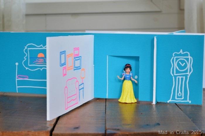foam board chalk dollhouse