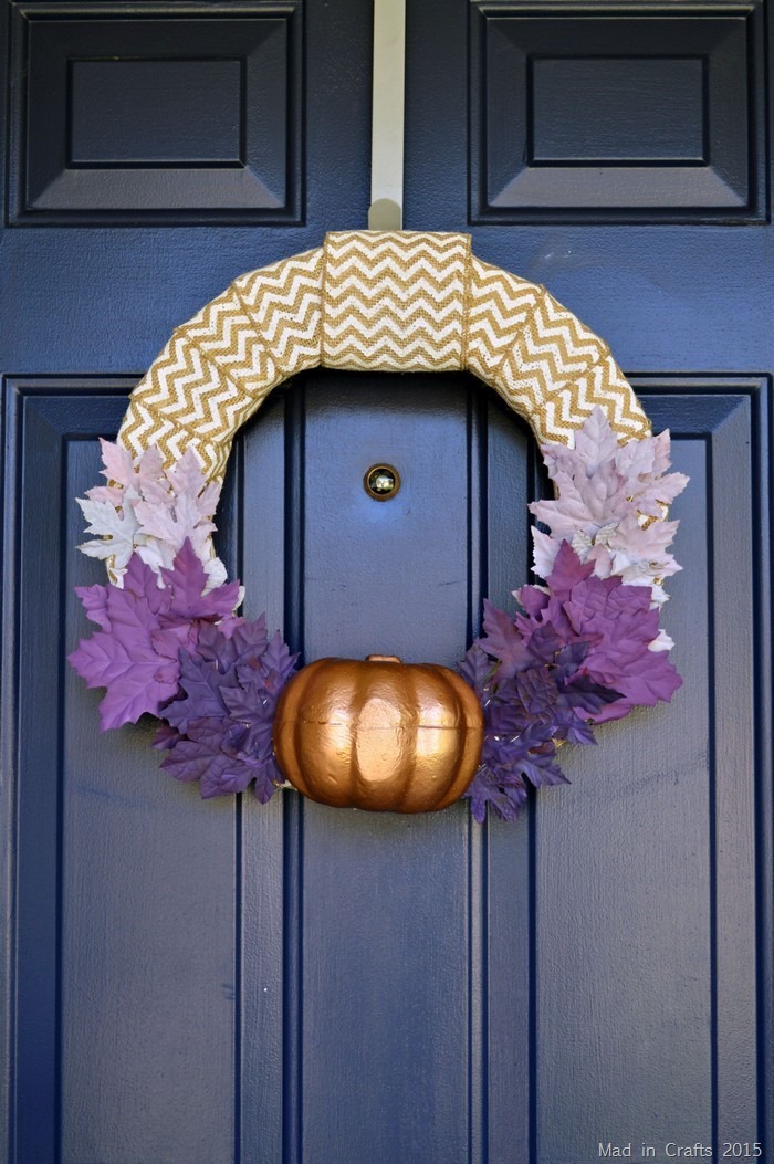 Purple and Bronze Ombre Fall Wreath