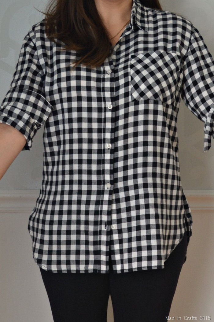 altered flannel shirt