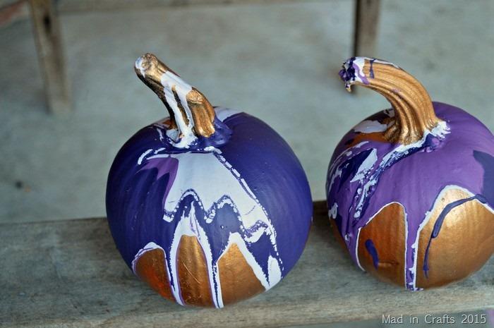 ombre paint on pumpkins