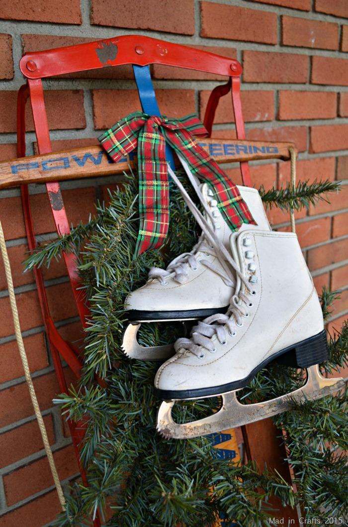 Christmas Sled and Skates