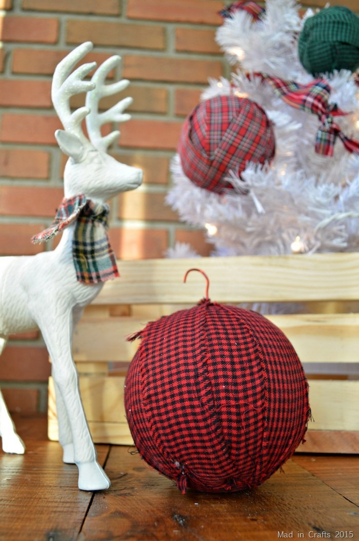 how to make easy rag ball ornaments