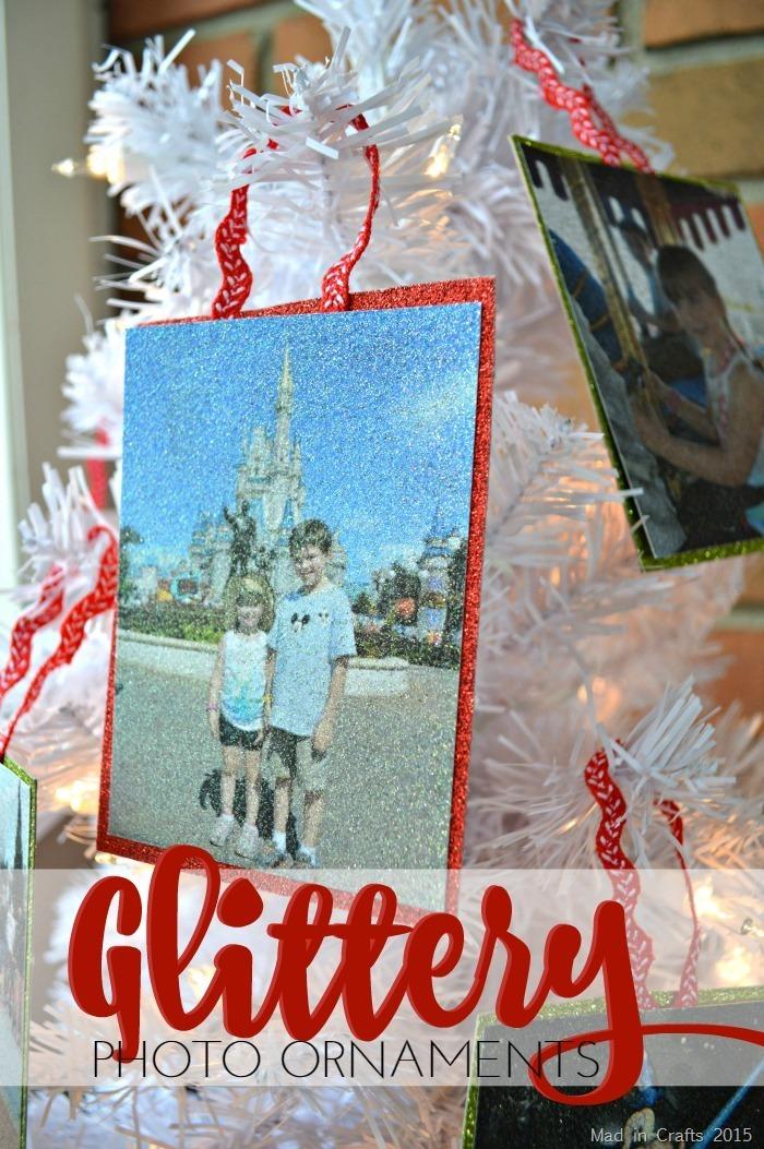 Glittery Photo Ornaments