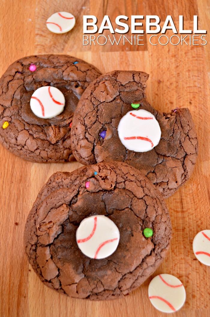 Baseball Brownie Cookies