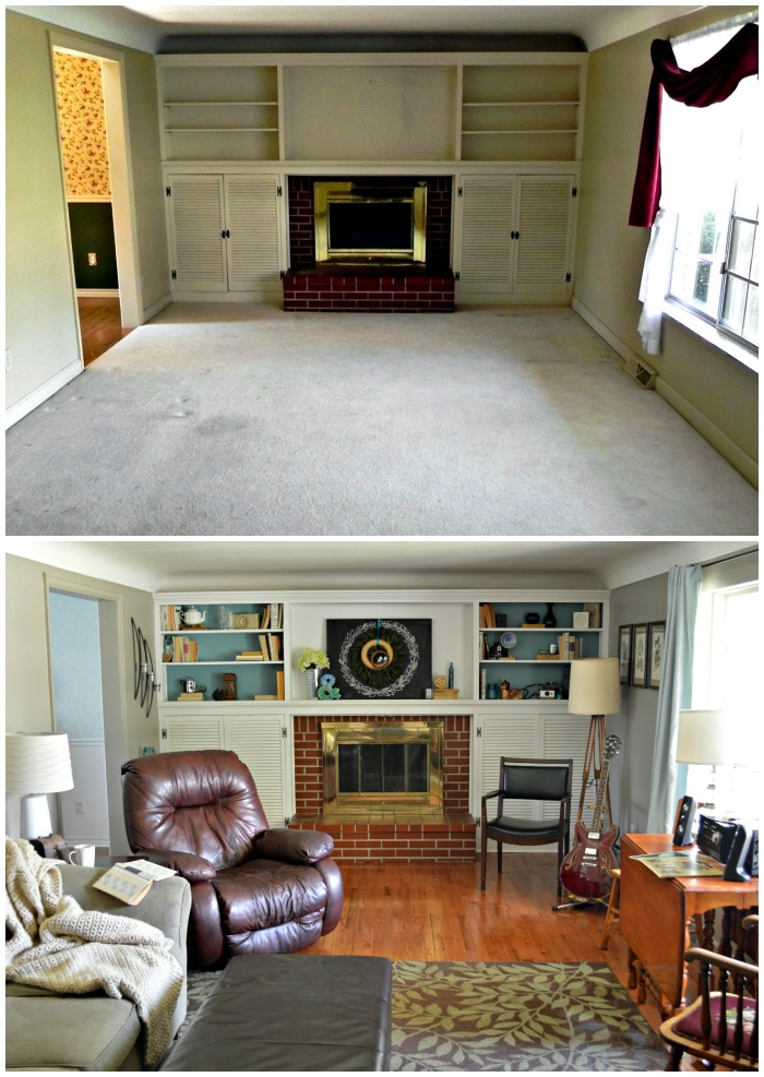 Mad House Living Room Before and After
