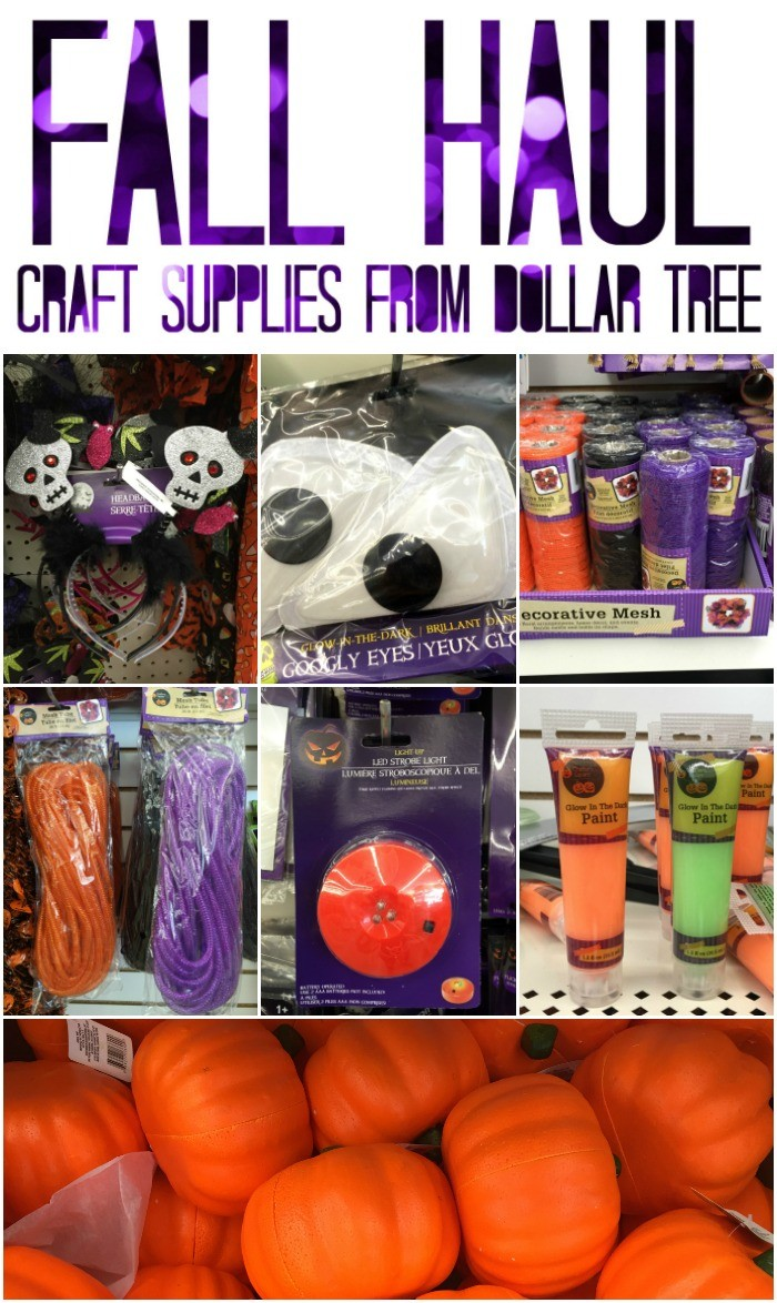 Fall Haul Crafts Supplies from Dollar Tree