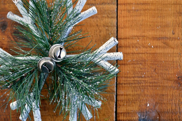 FAUX BIRCH FINISH FOR DOLLAR STORE ORNAMENTS