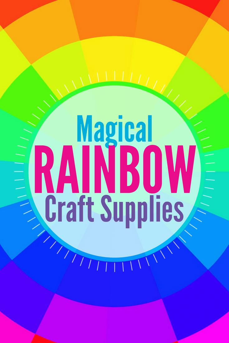 10 MAGICAL RAINBOW CRAFT SUPPLIES