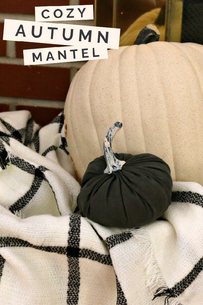 STYLING A FALL MANTEL WITH TARGET DOLLAR SPOT DECOR