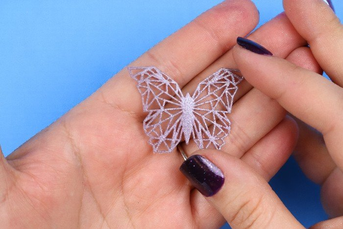 GEOMETRIC BUTTERFLY EMBELLISHMENTS WITH LIQUID SCULPEY