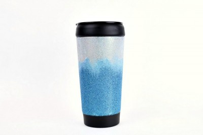 DISHWASHER-SAFE GLITTER COFFEE TUMBLER