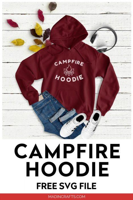 CAMPFIRE HOODIE – FREE SVG FILE