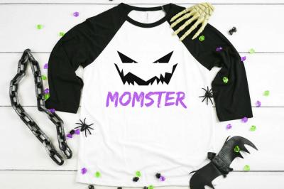Halloween Mom t-shirt with Halloween decor