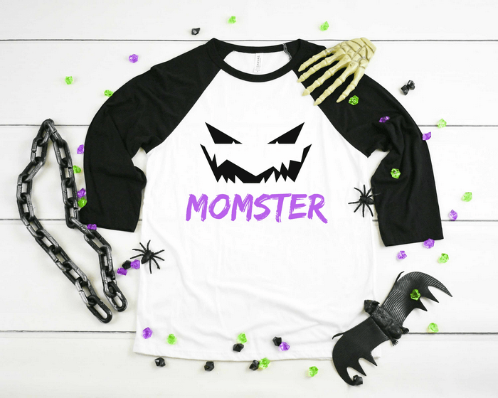 Halloween Mom t-shirt with Halloween decor