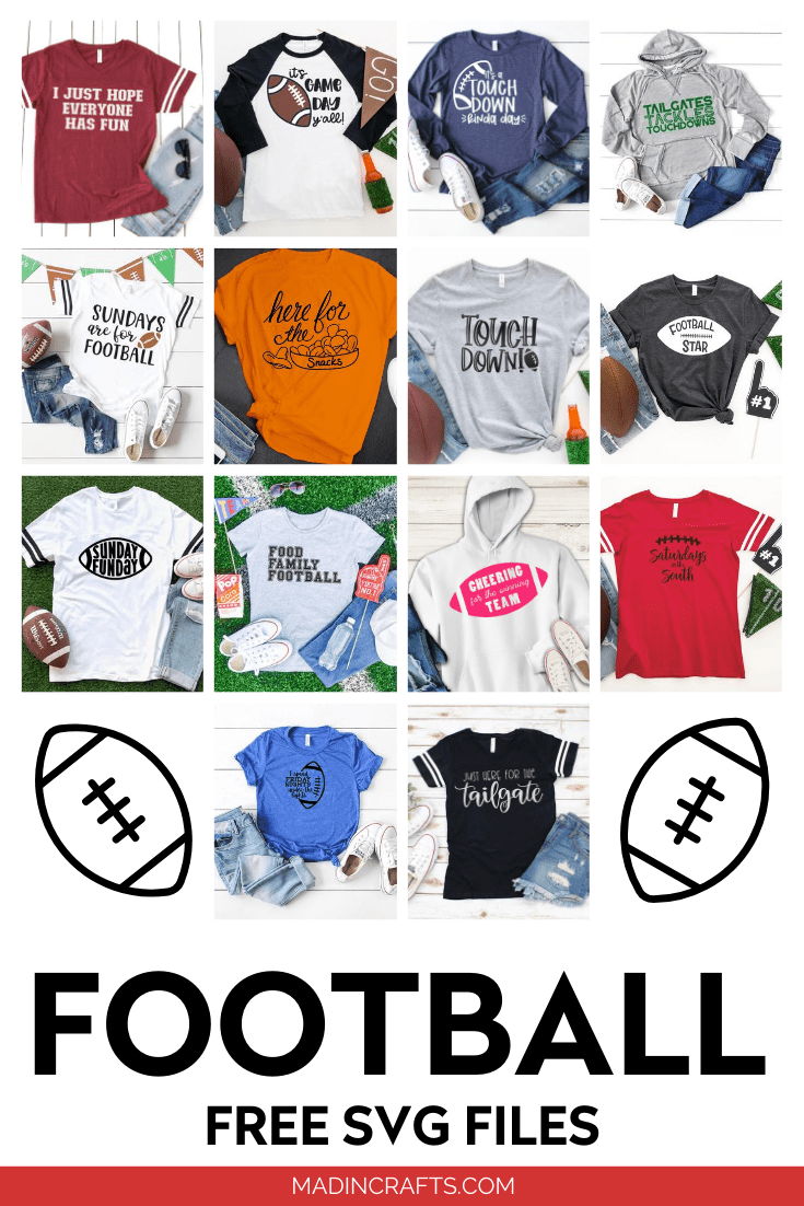 collage of Free Football SVG designs