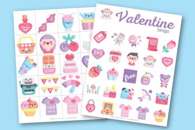 Craft and Valentine Bingo Game