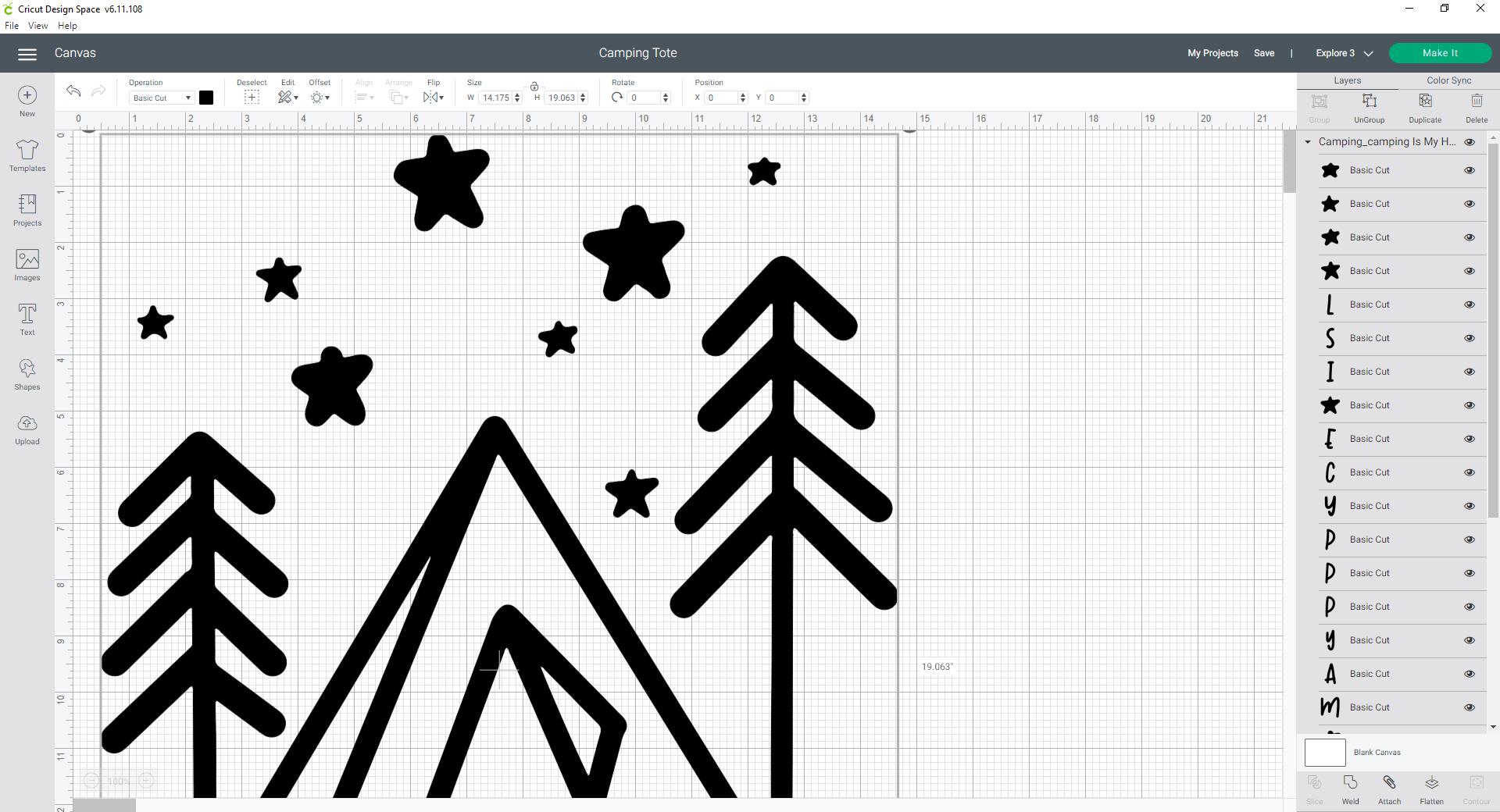 Cricut Design Space Insert SVG into canvas