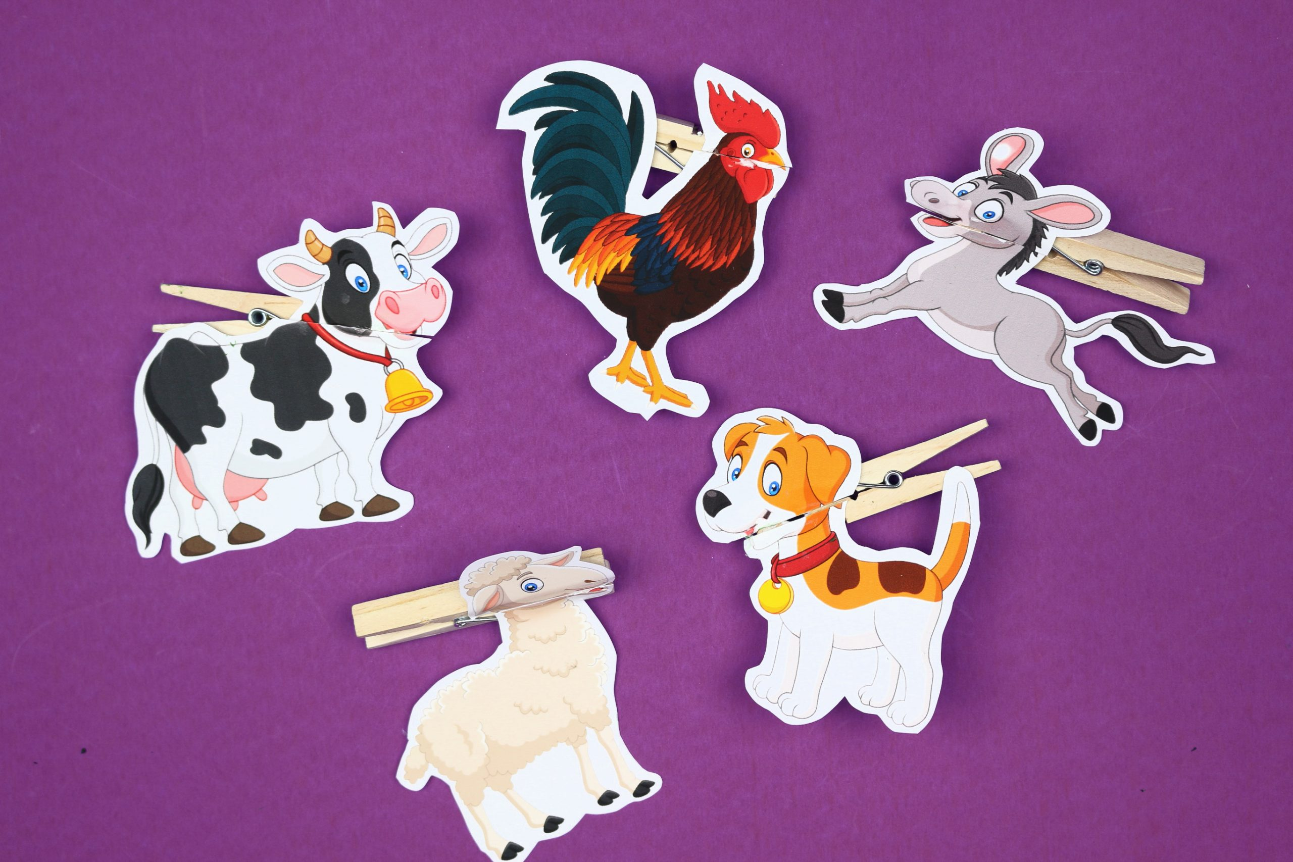 finished clothespin puppet printables