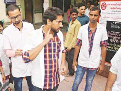 attack on doctor:patient attacks doctors in thane civil ...