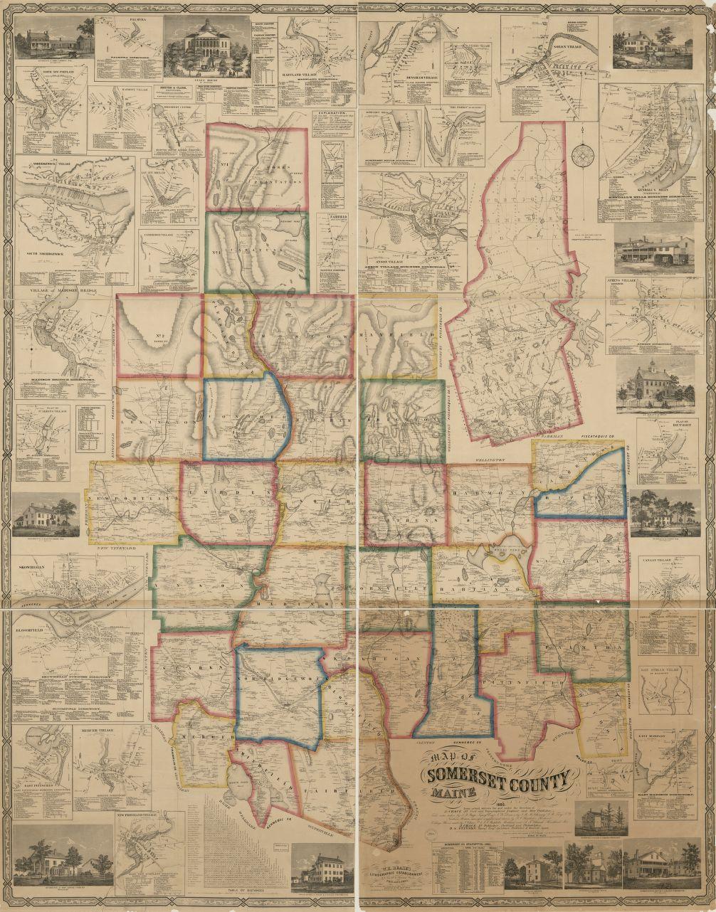 Map Cities Aroostook County Maine