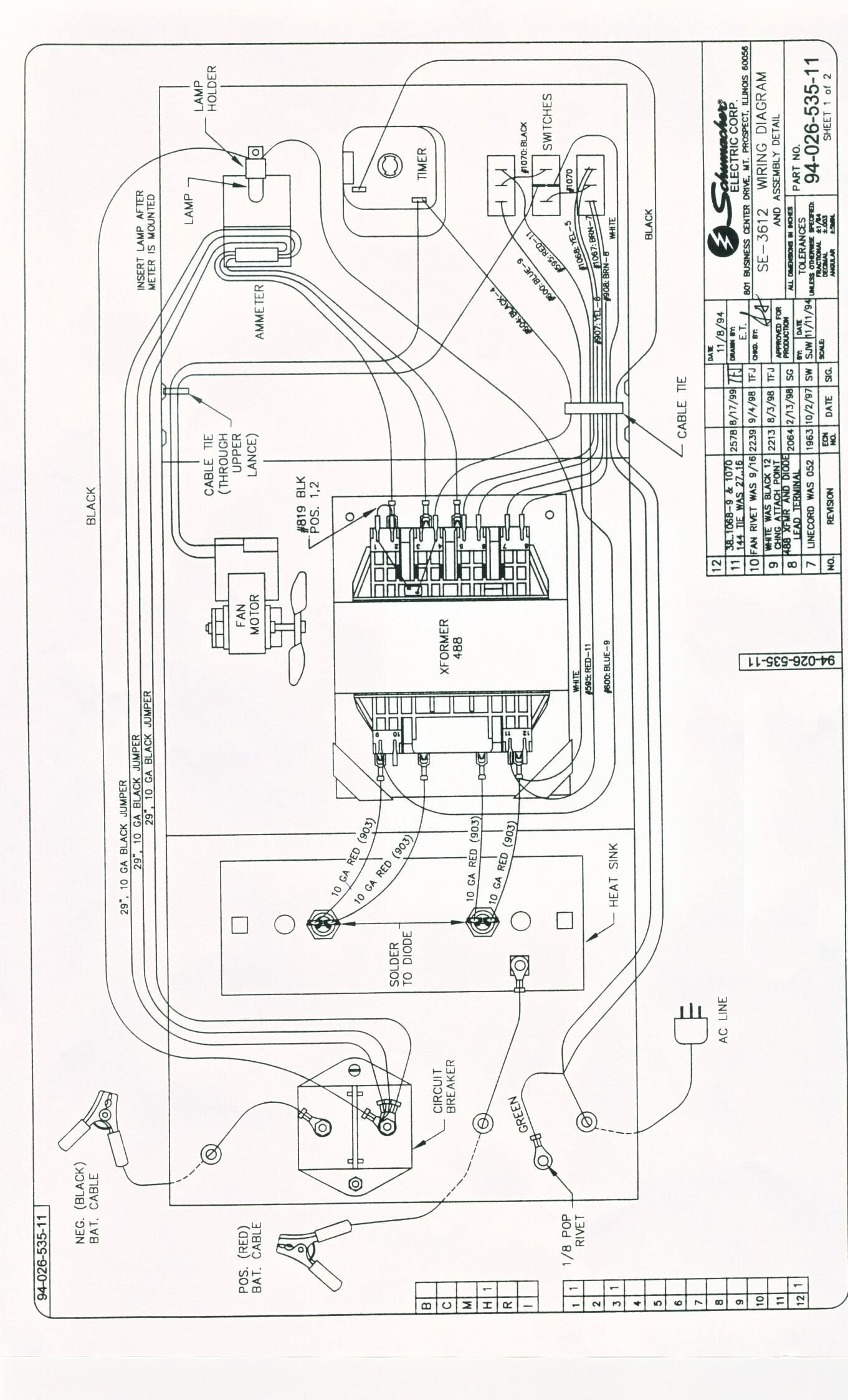 Fine schumacher 4020 battery charger wiring diagram adornment rh thetada cbr 600 f3 fuel pump