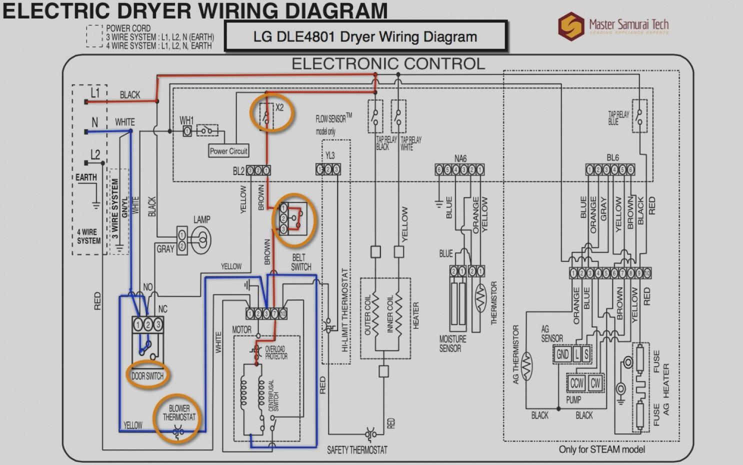 Dryer Hookup Wiring Diagram | Wiring Liry on
