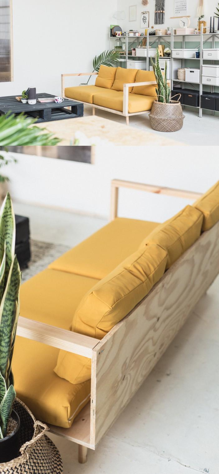 Фанерадан жасалған диван
