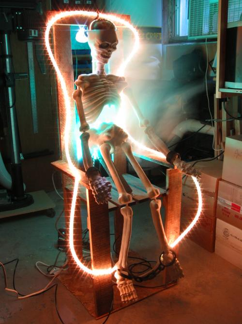 A Skeleton Is Electrocuted On Mark Csele S Porch Make