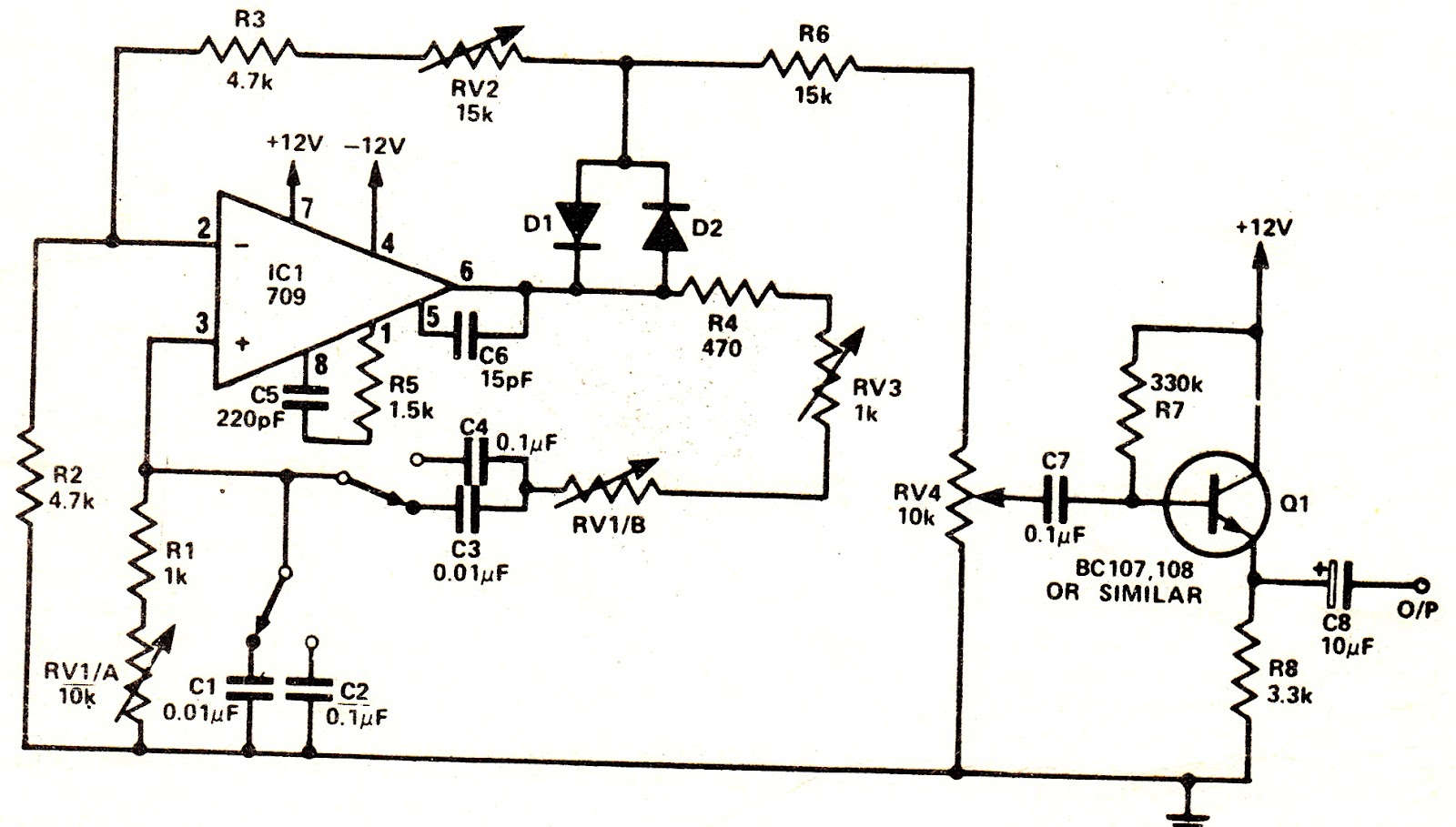 Sine Wave Generator Circuit 555 1hz Up To 22mhz By Max038