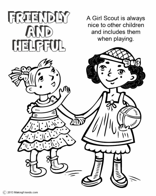girl scout promise coloring page # 17