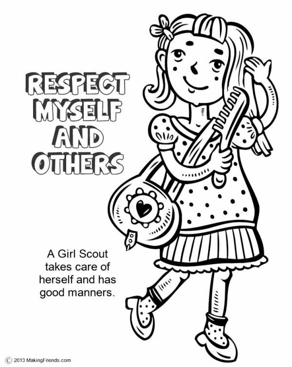 girl scout promise coloring page # 23