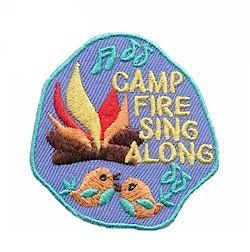 Girl Scout Campfire Sing Along Fun Patch