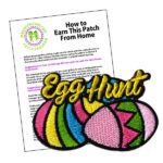 Girl Scout Egg Hunt Fun Patch