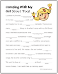 Girl Scout Mad Libs