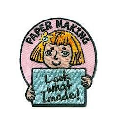 Girl Scout Paper Making Fun Patch