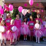 Multi level troop 250 made tutus to wear (juniors - daisies) during our annual Believe Walk community service event to support breast cancer awareness