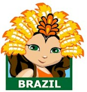 Brazil Patch. You will want to hand out the Brazil patch from MakingFriends®.com when your troop learns about the culture and traditions of Brazil that may include Tupí-Guaraní Indians, Carnival, Samba, Futebol and much more. Find a information about Brazil as well as friendship swap kits, crafts, passports and more for your international event on our page Brazil| Ideas for Thinking Day*. #thinkingday #scouts #patches #makingfriends via @gsleader411