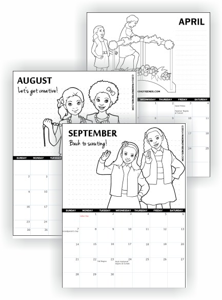 Printable Girl Scout Calendars