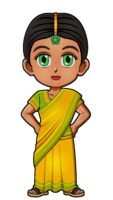 India Traditional Clothes for Thinking Day