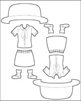 Superhero Prudence's Girl Guide Uniform for Madagascar Outline