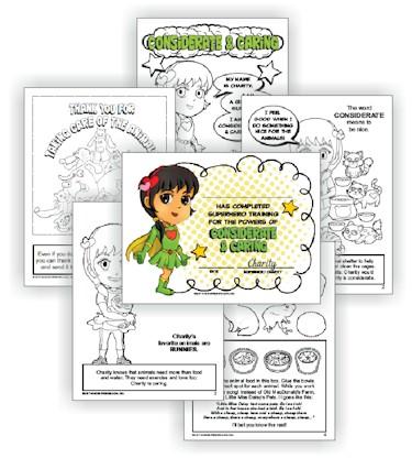 Superhero Considerate & Caring Light Green Petal Download