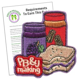 Girl Scout Peanut Butter and Jelly Fun Patch