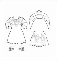 World Thinking Day Traditional Brazil Clothing Outline