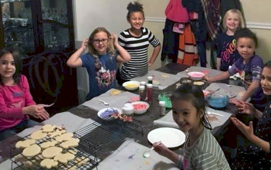 Daisy Girl Scouts Bake Holiday Cookies