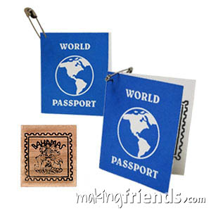 Bahamas Mini Passport Friendship Swap Kit. These passport crafts are sure to be a hit at your World Thinking Day* event or International booth, especially when the girls get their passport stamped! Kit makes 100 and is available at MakingFriends®.com. Find information about Bahamas as well as patches, crafts, passports and more for your international event on our page Caribbean Countries| Ideas for Thinking Day*. via @gsleader411