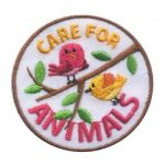 Care for Animals Fun Girl Scout Fun Patch