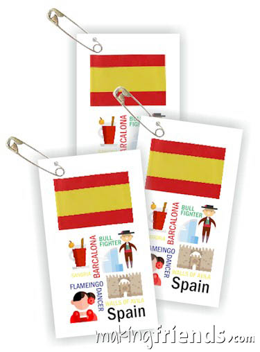 Girl Scout Thinking Day Toothpick Flag SWAP Spain via @gsleader411