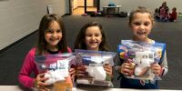 Troop 46757 from Pittsburgh made blessings bags.