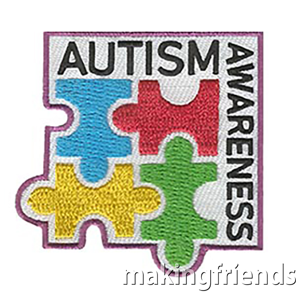 Just like each person is unique, each person with autism is also unique. Help yourtroop to understand that those with autism might communicate in different ways. #makingfriends #autismawareness #autism #awareness #girlscoutbadges #badges #scouts #boyscoutbadges via @gsleader411
