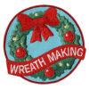 Girl Scout Wreath Making Fun Patch